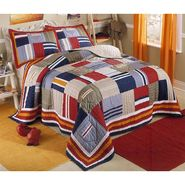 My World Ronnie Patchworks Twin Quilt with Pillow Sham at Kmart.com