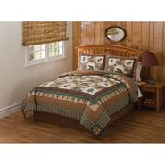 Cedar Creek Moose Head Lodge Twin Quilt with Pillow Sham at Kmart.com