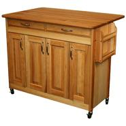 CATSKILL CRAFTSMEN INC Butcher Block Island with Raised Panel Doors and Drop Leaf at Sears.com