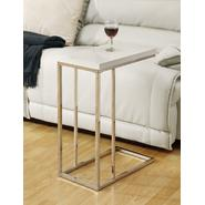 Monarch Specialties Glossy White Hollow-Core / Chrome Metal Accent Table at Kmart.com