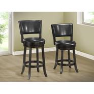 "Monarch Specialties Black Leather-Look 39""H Swivel Counter Height Stool/ 2pcs at Sears.com"