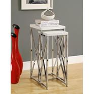 Monarch Specialties Glossy White / Chrome Metal 2pcs Plant Stand Set at Kmart.com