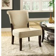 Monarch Specialties Beige Linen Fabric / Cappuccino Wood Accent Chair at Kmart.com