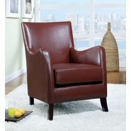 Monarch Specialties Red Leather-Look Accent Chair at Kmart.com