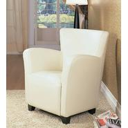 Monarch Specialties Ivory Leather-Look Club Chair at Sears.com