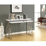 Monarch Specialties Glossy White / Chrome Metal 2pcs Console Table Set at Kmart.com