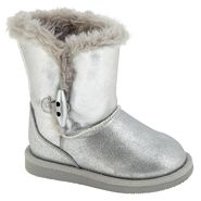 WonderKids Toddler Girl's Aany 3 Suede Boot - Silver at Kmart.com