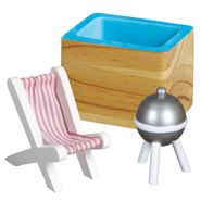 Just Kidz 3 pc. Wooden Outdoor Patio Dollhouse Furniture Set KYD-11124A at Kmart.com