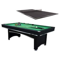 Triumph Sports USA 7 ft Billiard Table with Table Tennis Top and Accessories