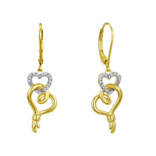 1/10ct.t.w. diamond and gold over sterling silver Knots of Love double