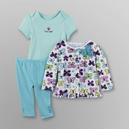 Little Wonders Infant Girl's Top, Bodysuit & Pants - Butterfly at Sears.com