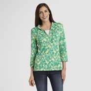 Basic Editions Women's Print Hooded Top at Kmart.com