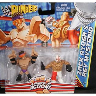 WWE Zack Ryder & Rey Mysterio - WWE Rumblers Toy Wrestling Action Figures