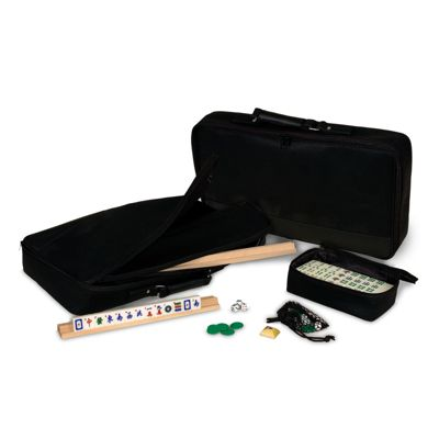 MAH JONGG IN SOFT SIDED CASE -BLACK