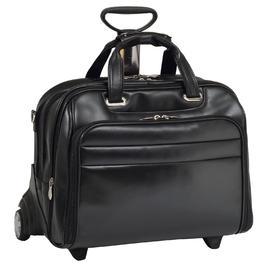McKlein® McKleinUSA MIDWAY 86605 Black Leather Fly-Through™ Checkpoint-Friendly 17  Detachable Wheeled Laptop Case at Kmart.com