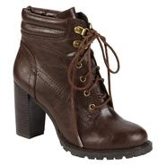 Bongo Women's Compass Lace-Up Bootie - Brown at Kmart.com