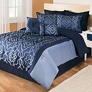 The Great Find 8 piece Comforter Set Marcel Navy at Kmart.com