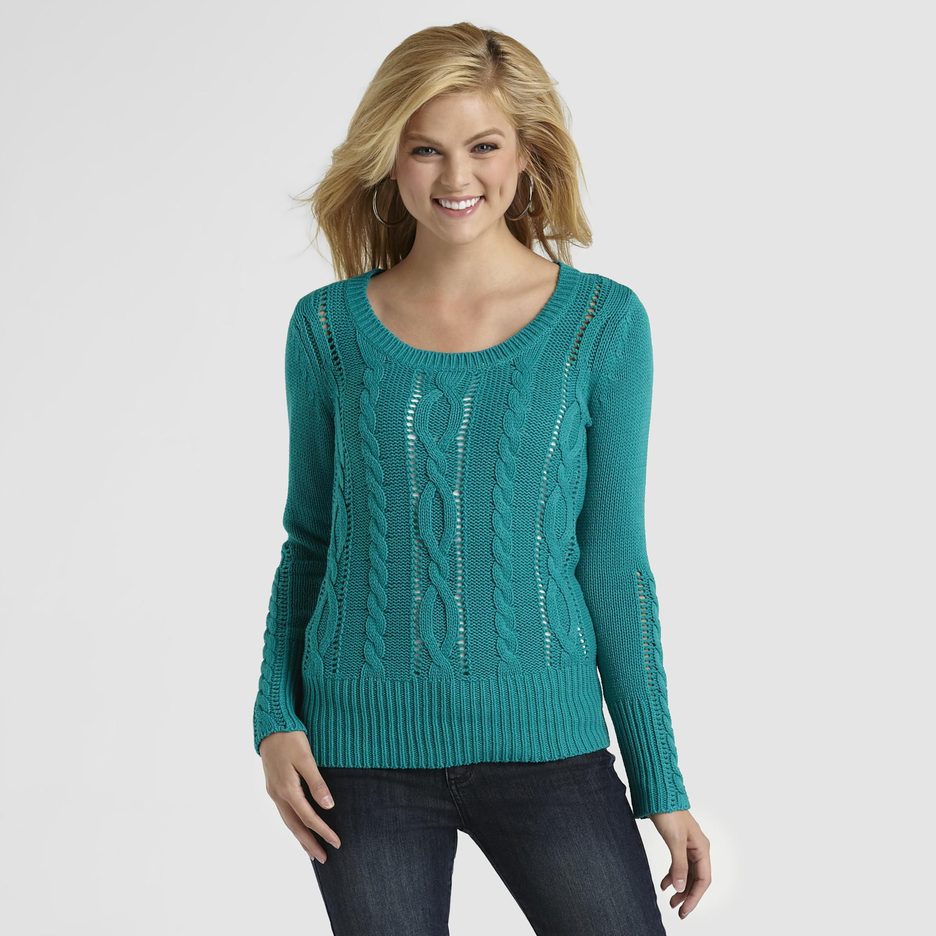 Women's Open Cable Knit Sweater