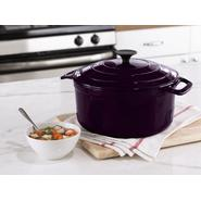 Sandra by Sandra Lee 5.5 Quart Plum Multi-Layer Porcelain Dutch Oven Model #5101898 at Kmart.com