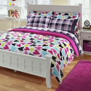 Joe Boxer Full/Queen Mini Comforter Set - Heart Plush at Kmart.com