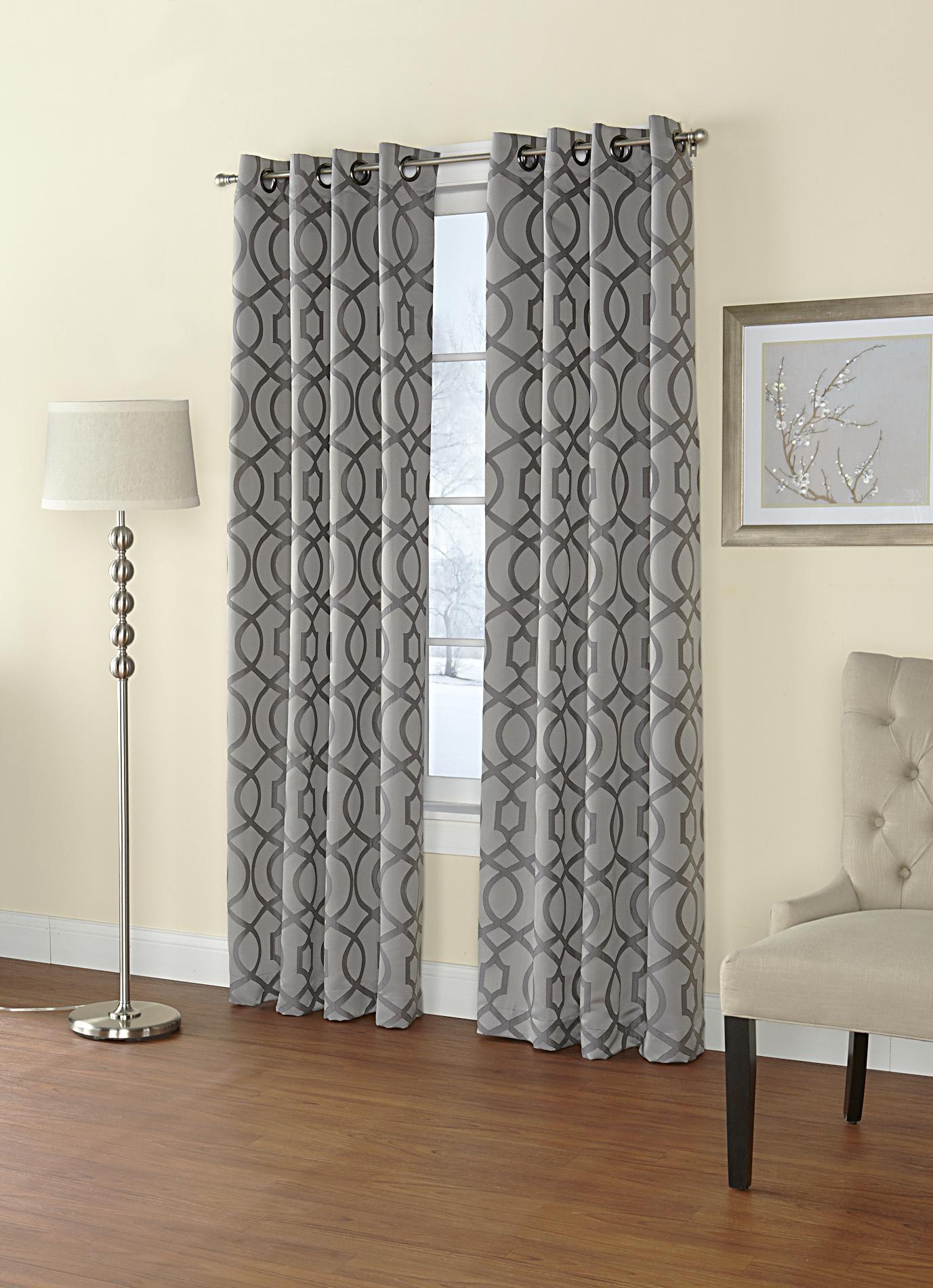Regal Home Jacquard Grommet Top Single Curtain Panel