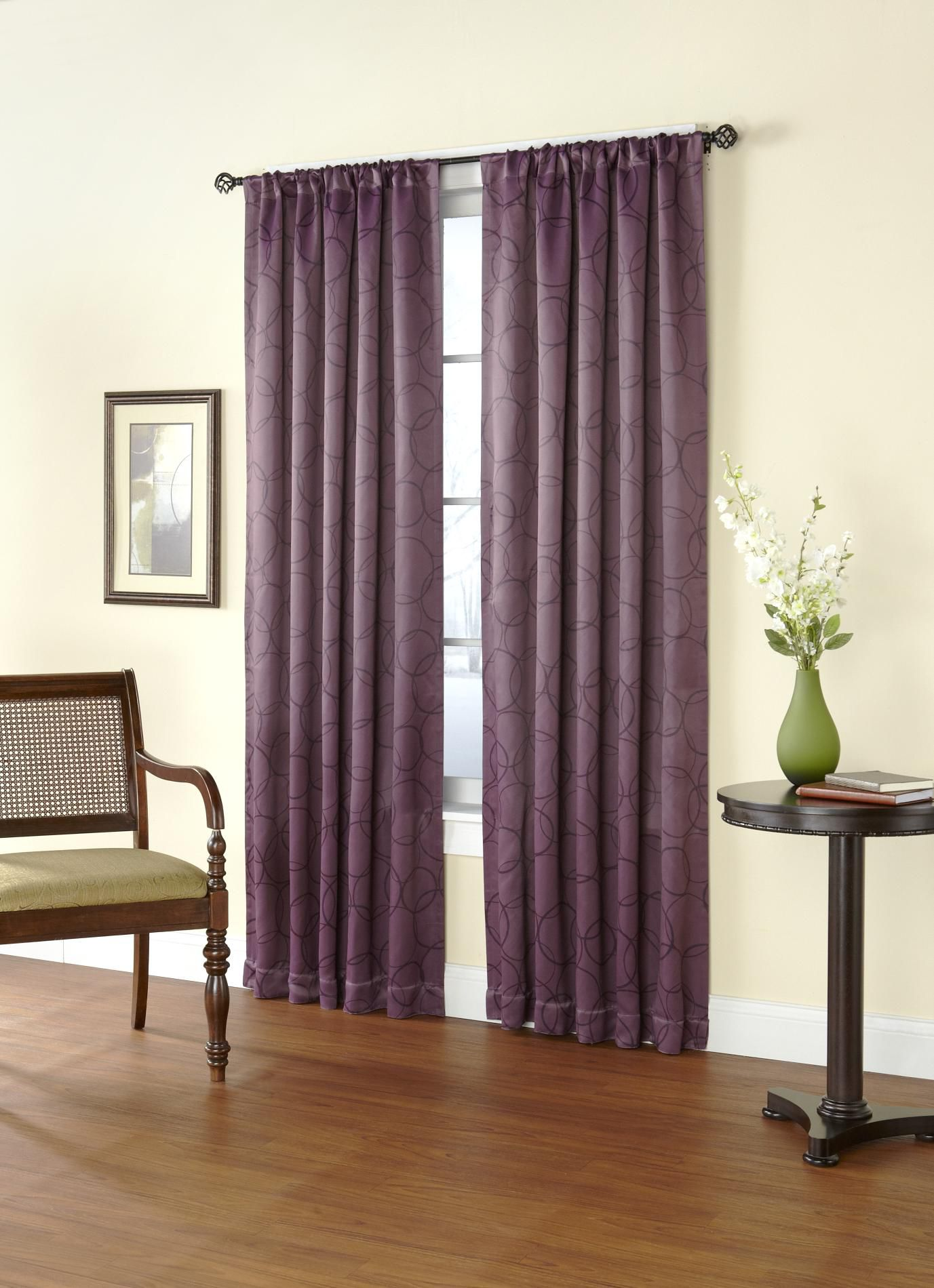 Light-Blocking Rod Pocket Single Curtain Panel