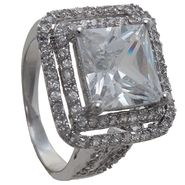 Grand Luxe Simulated White Sapphire Rhodium Plated Ring at Sears.com
