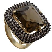 Grand Luxe Simulated Smokey Topaz Yellow Gold Plated Ring at Sears.com