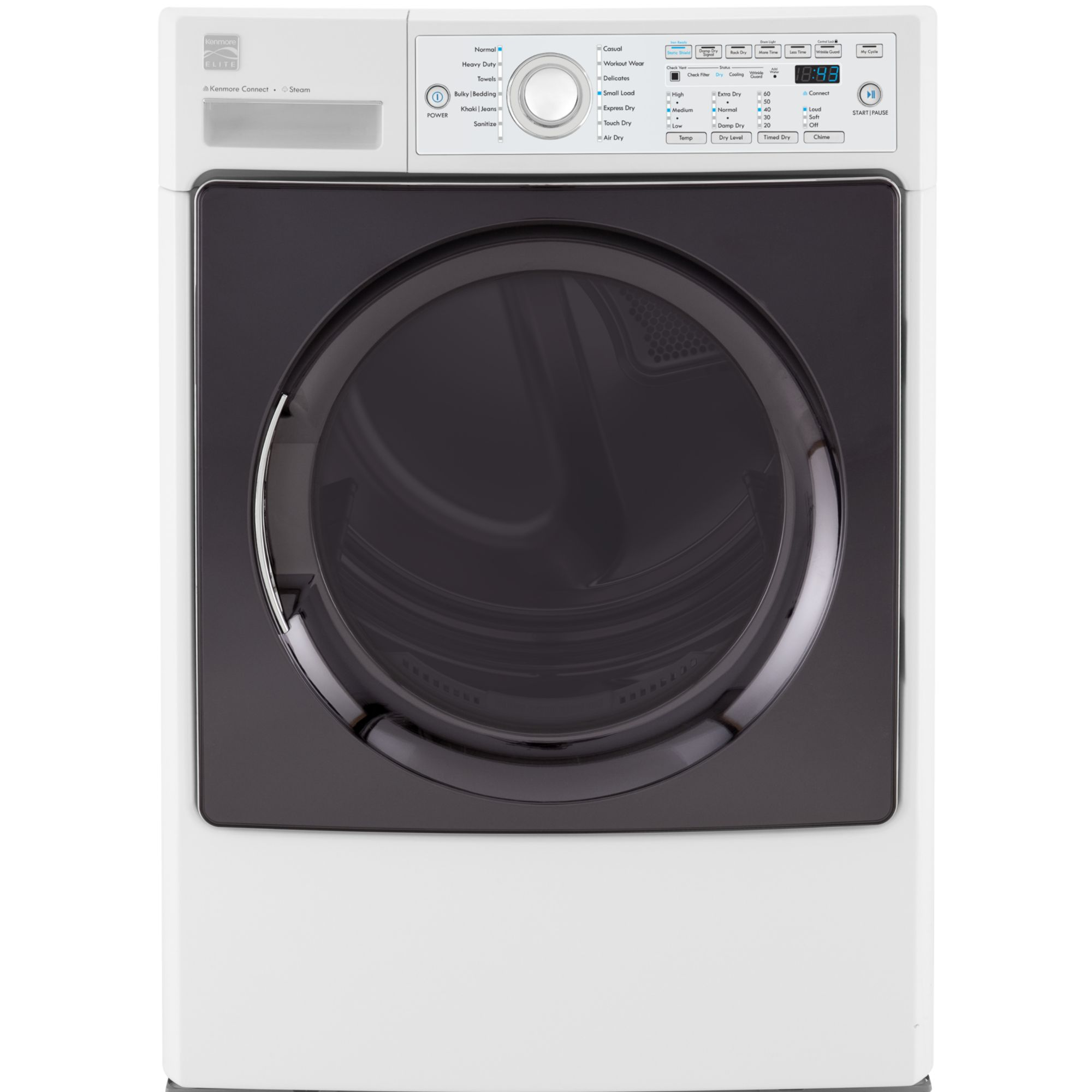 7.4 cu. ft. Gas Steam Dryer - White