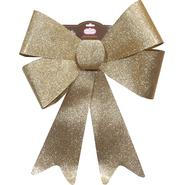 Trim A Home® Large Gold Plastic Glitter Bow Christmas Decoration at Kmart.com