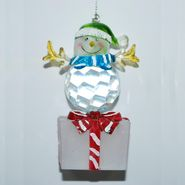 Trim A Home® Lighted Snowman Ornament - On Present with Blue Scarf at Kmart.com