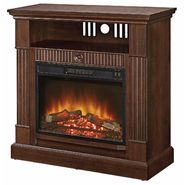 Essential Home Mahogany Entertainment Fireplace at Kmart.com