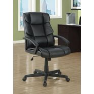 "Monarch Specialties Black Leather-Look "" Scale Back "" Office Chair at Kmart.com"