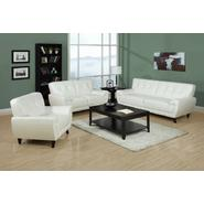 Monarch Specialties White Bonded Leather / Match Sofa at Sears.com