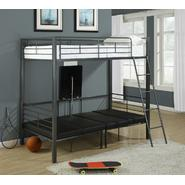 Monarch Specialties Charcoal Grey Metal Twin Bunkbed W/ Play-Sit-Sleep Area at Kmart.com