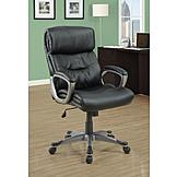 Monarch Specialties Black Leather-Look Executive Office Chair at mygofer.com