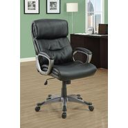 Monarch Specialties Black Leather-Look Executive Office Chair at Kmart.com