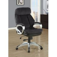 Monarch Specialties Dark Charcoal Grey Velvet Executive Office Chair at Kmart.com