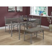 Monarch Specialties Cappuccino / Silver Metal Corner 3pcs Dining Set at Kmart.com