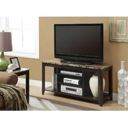 "Monarch Specialties Cappuccino / Marble Top 48""L Tv Console at Sears.com"