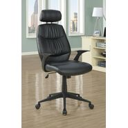 "Monarch Specialties Black Leather-Look "" Retro Style "" Office Chair at Sears.com"