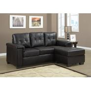 Monarch Specialties Dark Brown Bonded Leather / Pu Sectional at Sears.com