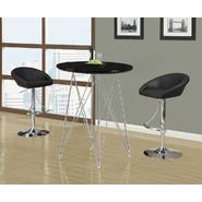 "Monarch Specialties Glossy Black / Chrome Metal 36""Dia Bar Table at Kmart.com"
