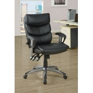 "Monarch Specialties Black Leather-Look "" Deluxe Style "" Office Chair at Kmart.com"