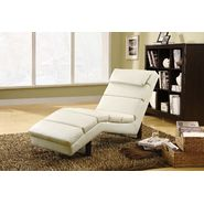Monarch Specialties Taupe Leather-Look Chaise Lounger at Sears.com