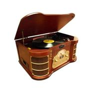 Pyle Classical Turntable with AM/FM Radio/ CD/ Cassette/ USB Recording & iPod Player at Sears.com