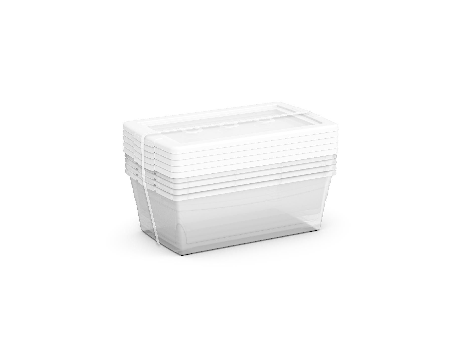 KIS 5pk 6.5 QT Clear Container Box