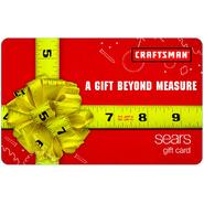 Sears Craftsman Tape Measure Gift Card at Sears.com