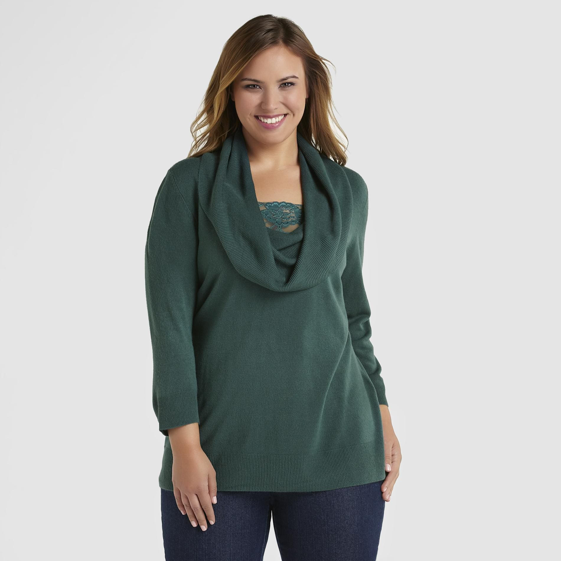 Basic Editions Women's Cowl Neck Sweater at Kmart.com