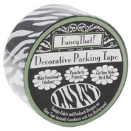 "Decorative Packing Tape 1.875"" Wide 25 Yard Roll Black Zebra at Kmart.com"